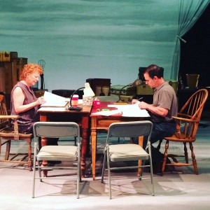 Dear Eliabeth 1st Rehearsal Becky Ann Baker and Peter Scolari